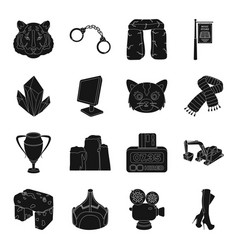 Clothing computer animal and other web icon in vector
