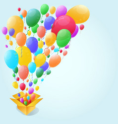 Colorful Balloon Abstract background vector image