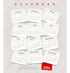 Decorative calendar of 2014 year vector