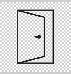 Door icon in line style exit icon open door vector