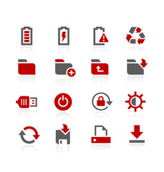 Energy and storage icons vector
