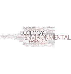Environmental word cloud concept vector