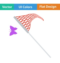 Flat design icon of butterfly net vector image vector image