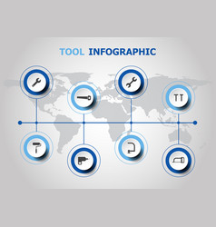 Infographic design with tool icons vector