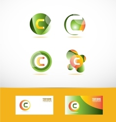 Letter c logo icon set vector