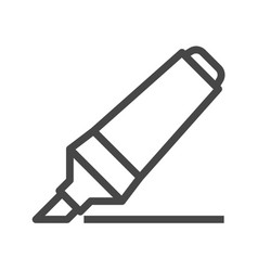 marker pen thin line icon vector image
