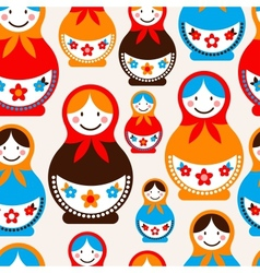 Matreshka doll - seamless pattern vector