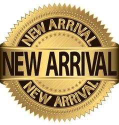 New arrival golden label vector image