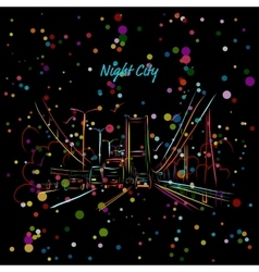 Night city road for your design vector image vector image