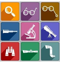 Optical devices vector image vector image