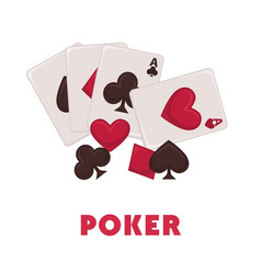 poker game promotional poster with play cards of vector image vector image