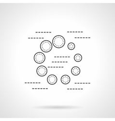 Preloader flat line icon vector
