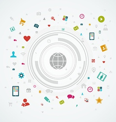 Social media world concept vector image
