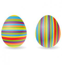 striped eggs vector image vector image