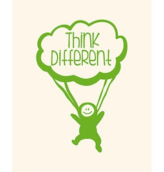 think different vector image vector image