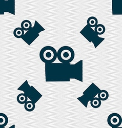 video camera icon sign Seamless pattern with vector image vector image