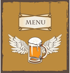 Beer wing vector