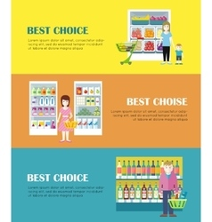 Best choice concept banners in flat design vector