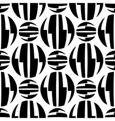 Seamless pattern of striped circles optical vector