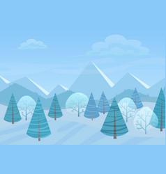 Beautiful chrismas winter flat landscape vector