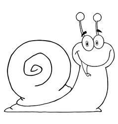 Cartoon snail vector image