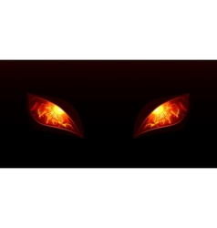 Glowing eyes vector