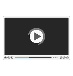 Flat Video Player vector image