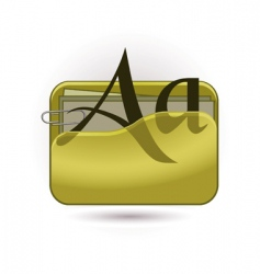 Font document icon vector