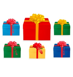 Set of christmas boxes vector