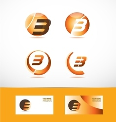 Letter b logo icon set vector