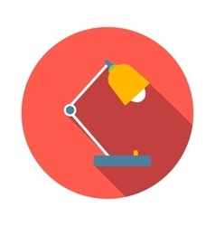 Desk lamp icon flat style vector
