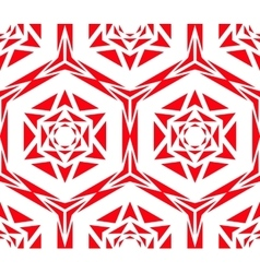 Geometric red rose pattern vector