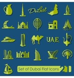 Set of dubai icons vector