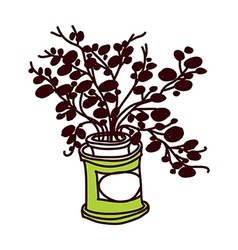 A plant on pot vector image