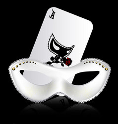 Ace and white mask vector