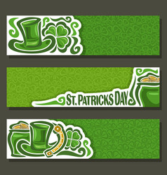 banner for st patricks day vector image vector image