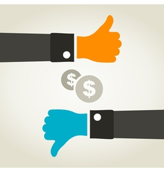 Business a hand vector image vector image