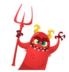 Cartoon cute devil monster vector