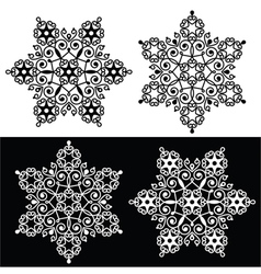 Christmas snowflake design with - embroidery lace vector image vector image