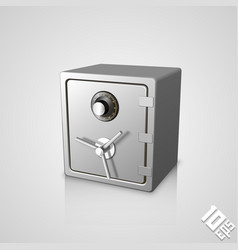 closed safe icon vector image