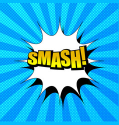 Comic book smash wording concept vector