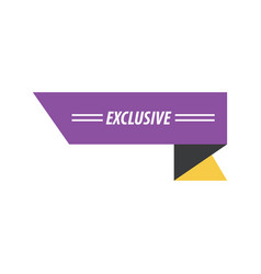 design ribbon exclusive purple yellow black vector image