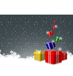 Elegant Christmas background with gift boxes vector image vector image