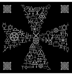 Esoteric cross vector image