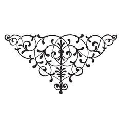 Floral motif has leaves on it vintage engraving vector