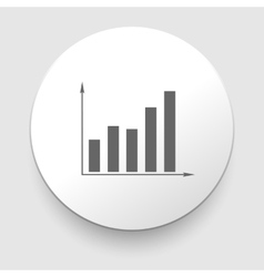 Graph Icon on Round Button vector image