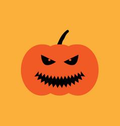 halloween pumpkin sign 409 vector image