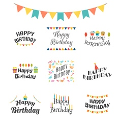 Happy Birthday greeting cards Birthday theme vector image