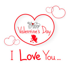 happy valentine s day vector image vector image