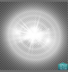 Lights on transparent background white vector